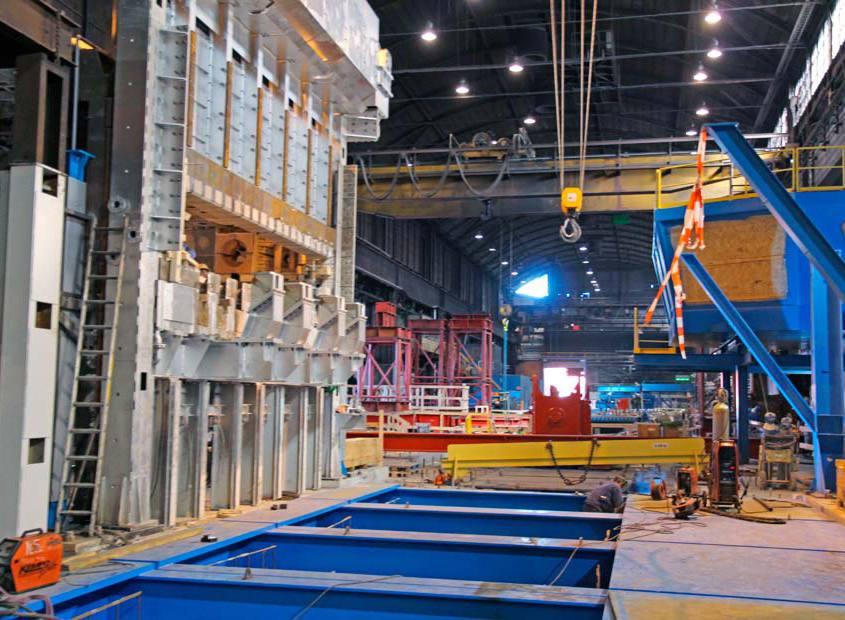 Mega Flex A/S mandskab hos DanSteel A/S, stålvalseværket i Frederiksværk